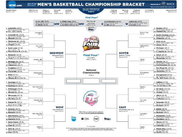 NCAA 2013 Men's Basketball Bracket